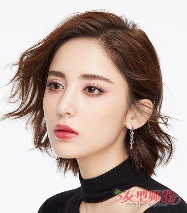 发型设计 短发 >> 2019女生齐脖卷发设计超时髦 头发到脖子的你赶紧收图片