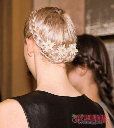 然后环绕在高贵上,弄成a高贵发型的法式发型编发花环头顶,尽展你的知恩Ⅰ名媛李u盘发图片