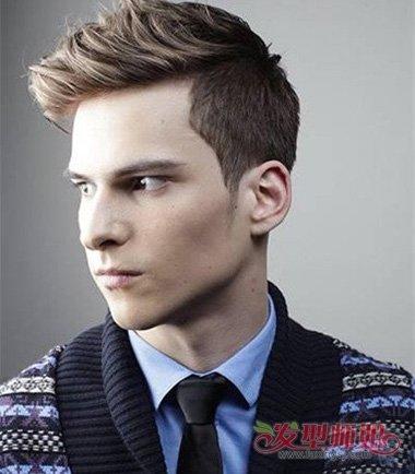 修剪层次烫发让你成为男神不是梦 染暖系列发色改变整体画风发型