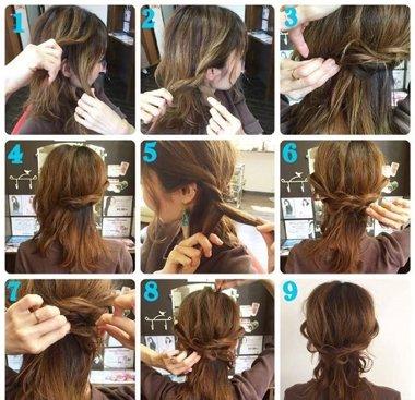 发型diy 长发扎发 >> 来自专业美发师的专享编发教程 巧手妹纸这样图片