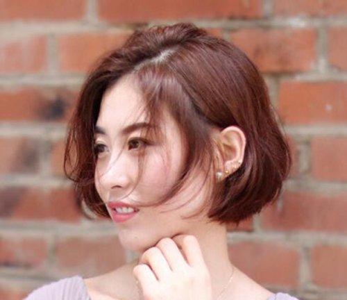 不适合齐腮短发的脸型没有! 2019女生无刘海齐腮短发新造型上线图片