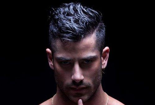 欧美男发做背头从来不担心头发长短 试试头发短剪短背头发型剃鬓角怎么样