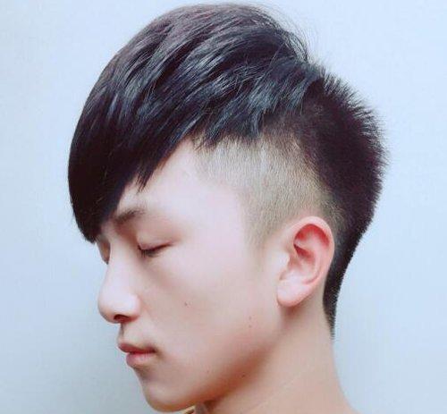 男生基础头型五:瓜子头发型图片