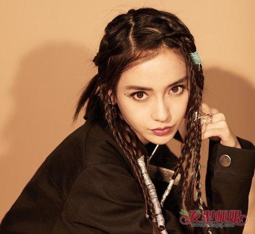 女生侧分长刘海这么火杨颖都在梳 杨颖新款侧分额前碎刘海发型减龄又修颜