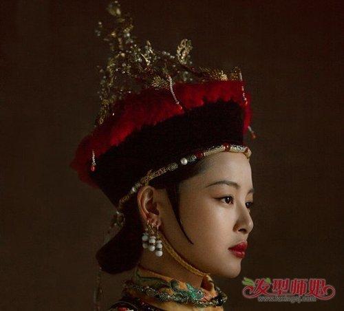 cos清宫后妃造型梳燕尾头才正宗 大热清宫剧嫔妃经典燕尾头造型欣赏