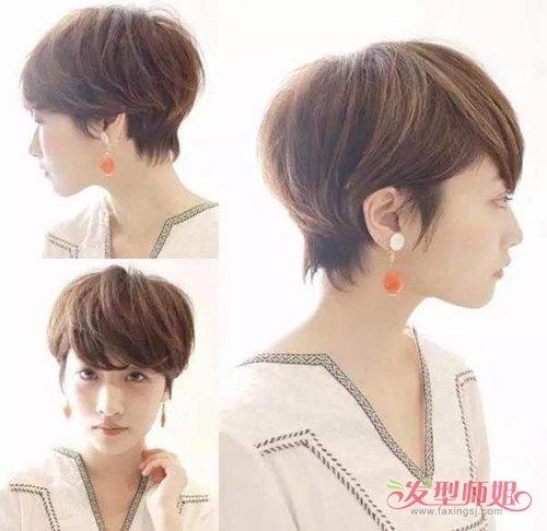 剪短发的时候,都是可以用日系的露耳短发的,短发发型很美观的哦~ 长图片