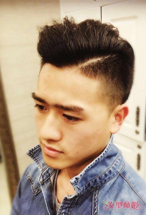 国字脸男生适合什么样的短发 时尚卷烫发成为你首选对象发型图片