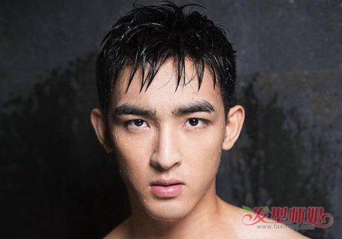 一样的特色哦~男生逆三角脸做发型的时候,凸显高冷风格的 短发发型,可图片