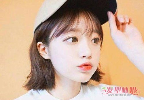 女生八字刘海短发发型图片