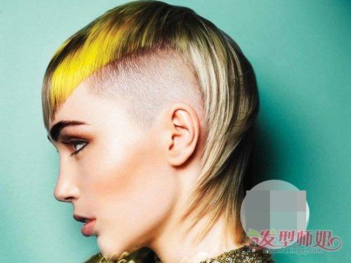 女生剃最帅最酷的莫西干发型 值得你拥有女生短头发造型系列