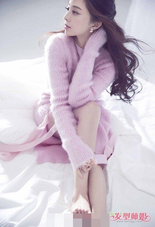 大脸女生烫韩式卷发添加人气 美腻整个冬季的女生卷烫头发