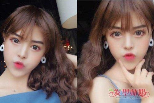女生精做甜美可爱水波纹发型 赚足眼球款的女生卷烫发造型系列