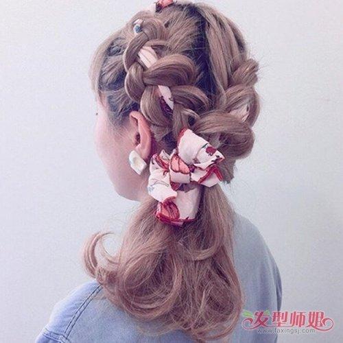这么美得丝带是怎么编进头发里的 丝带编发再简单也要有教程