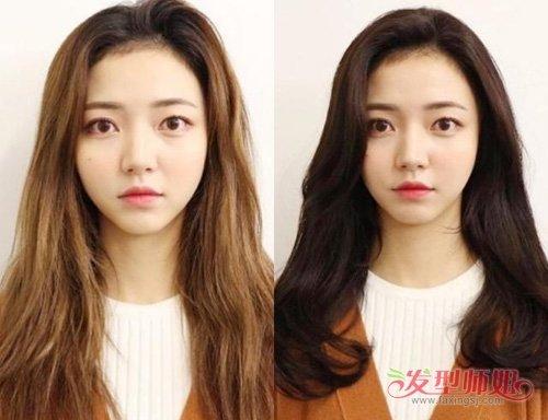 大脸女生烫韩式卷发添加气质 简单卷烫发修颜显瘦必选发型