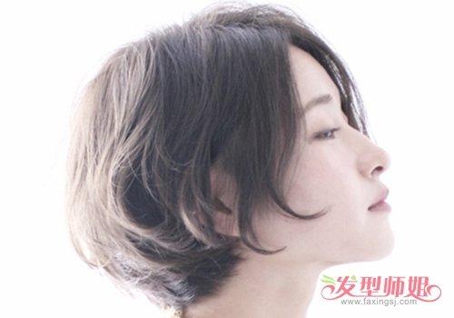 2019女生小清新日系黑色短发造型 发尾往内弯更显清甜