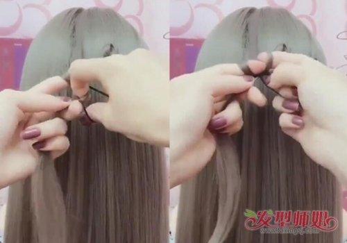 森系女生最喜欢的四叶草发型出扎法教程了 一根头发一个小皮筋四叶草扎的棒棒哒