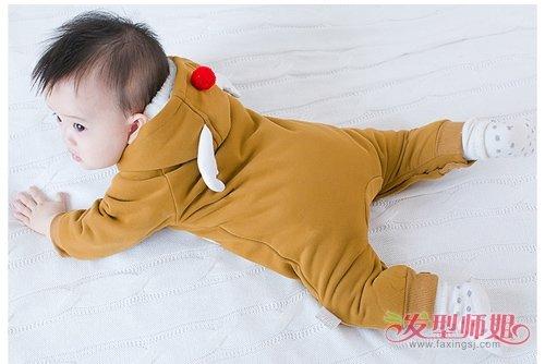 0到1岁男婴儿帅气短头发发型 男宝宝剃出的可爱短头发