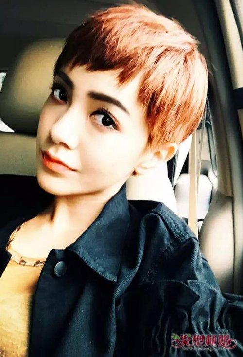 长方脸女生适合剪什么样发型 修颜时尚不俗套的女生短头发打造图片