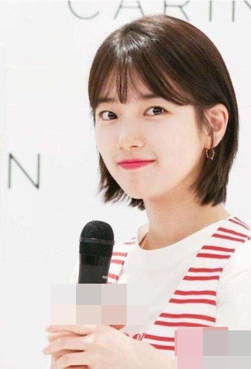 韩国圆脸女生短头发剪空气刘海发型