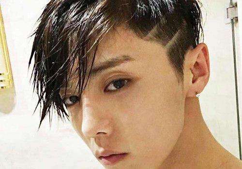 男生发型 男生短发 >> 剃鬓角一时爽刮痕图案难倒造型师 男士头发两边图片