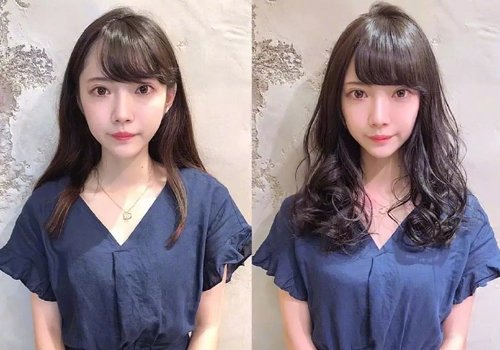 乖巧可爱萌萌哒,就是现代小姐姐的标配造型,女生斜刘海齐肩发的 发型图片