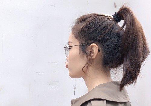 留多长的头发才能扎好看高马尾  蓬松度效果比较好,女生无刘海的扎发图片
