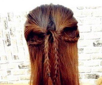 圆脸长发发型扎法图解 圆脸长发简单扎头发图解