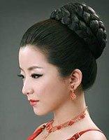 韩国编辫子发型图片 辫子新娘发型