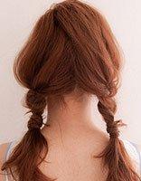 两股麻花发型教程图解 两边麻花发型
