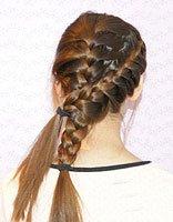 蜈蚣发型的编发 刘海蜈蚣辫发型