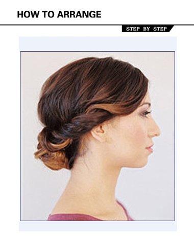 圆脸女生最适合的盘头方法 圆脸白领盘发的方法