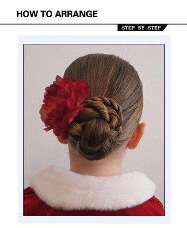 小女孩梳盘头发好看吗 小女孩好看的盘发图解
