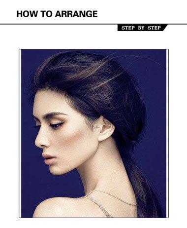 脸大的女生头发怎样扎 脸大没有刘海头发扎法