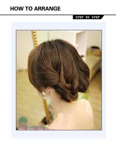 晚宴盘头发的方法图解 晚宴妆长发盘发发型
