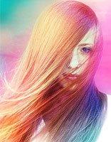 头发渐变染色分解图 头发染渐变颜色
