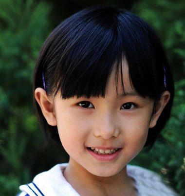 小学生发型标准图片 小孩儿学生发型图片