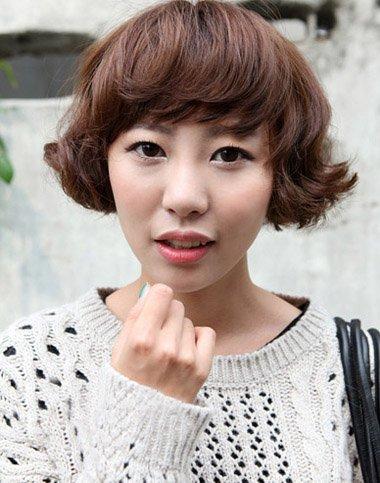 短发烫发_男/女生短发烫发发型图片_2017短发烫发发型图片