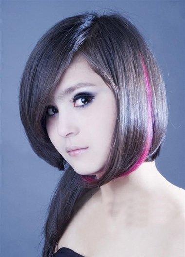 黑头发下面染红色的是什么样子 短发染色如何选择颜色