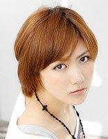 深棕浅红色短发染发发型 女生短发染烫发型