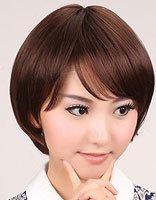 头发少适合什么短发bobo头 中短发直发bobo头发型