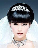 新娘的发型有没有齐刘海的 适合齐刘海的新娘发型