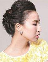 50岁女人发型怎样盘 简单直发盘发发型扎法