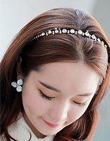 没有刘海的女生怎么戴发箍 没有刘海的发箍戴法