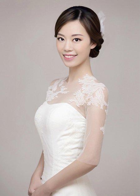 婚礼新娘盘头发型图片 盘发新娘发型图片教程[新娘发型]-新娘发型图片