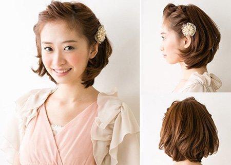 怎样编短头发简单好看 短发新娘头发造型编头发