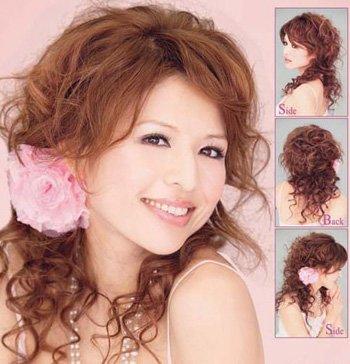 发型热点 > 卷发发型扎法 >   小卷烫发怎样扎头发好看?图片