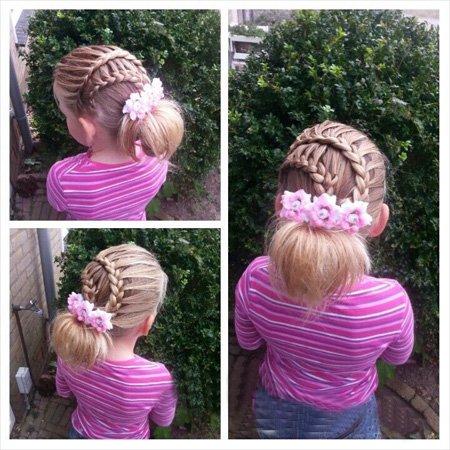 发型热点 > 小女孩发型 >   女孩子该怎么盘头发?