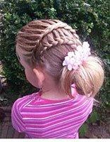 女孩子该怎么盘头发要图片 小女孩可爱盘发头发的步骤及图片