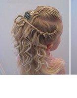 儿童头发卷发型扎法 大童漂亮发型扎法