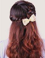 中发女孩公主辫子发型扎法图解 女孩中长发简单发型扎法